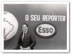 """Precisamente as 20:00 horas, você via a abertura do Repórter Esso dessa forma: """"Aqui fala o seu Repórter Esso, testemunha ocular da história""""."""