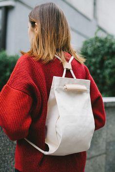 Pocket Bag Medium Off White