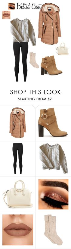 """Trending now- belted coats"" by egiuffre525 on Polyvore featuring Kensie, Miss Selfridge, The Row, Anine Bing, Givenchy and UGG"