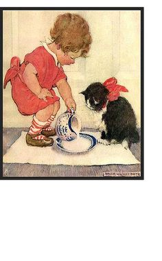 Jessie Wilcox Smith - Here Kitty