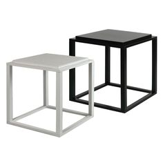 Modular Black/ White Stacking Cubes (Set of 2)