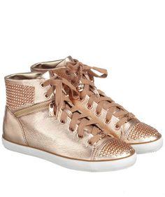 Sneaker in Rosé von Michael Kors #shoes #metallic #fashion