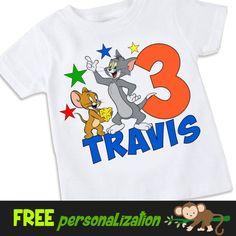 Tom & Jerry inspired birthday Tshirt Shirt
