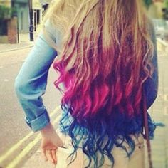 ombre hair styles, ombre hairstyles, ombre styles for girls. I want this hair! Dip Dye Hair, Dyed Hair, Dip Dyed, Kool Aid Hair Dye, My Hairstyle, Pretty Hairstyles, Wedding Hairstyles, Feathered Hairstyles, Hairstyles Haircuts