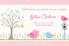 Convite Digital Jardim Encantado Kelly Vasconcelos Elo7 Baby