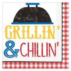 Turn every meal into a barbecue when you have Amscan Summer Multi-Color BBQ Picnic Beverage Napkins. Each napkin features the message Grilling and Chilling. Vegetarian Grilling, Healthy Grilling, Vegetarian Food, Barbecue Recipes, Barbecue Grill, Barbecue Sauce, Grilling Recipes, Beverage Napkins, Napkins Set