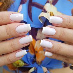 Combinações para unhas francesinhas, veja os esmaltes usados pelas manicures Manicures, Nails, Nail Art, How To Make, Beauty, Lip Gloss, Amanda, Minnie Mouse, White Nail Beds