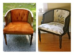 Cane Chair Makeover for less than $25.