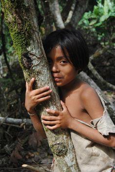 A Kogui child in la Sierra Nevada de Santa Marta, Palomino, Guajira - Colombia…