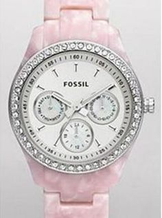 All of my auctions for hard to find watches have been moved to Webstore bc Ebay charges too much and I pass savings on to customers  pink bling fossil watch