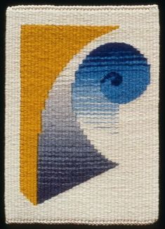 'Detail of form ' Tim Gresham cm x Navajo Weaving, Weaving Art, Tapestry Weaving, Loom Weaving, Hand Weaving, Small Tapestry, Contemporary Tapestries, Weaving Wall Hanging, Peg Loom