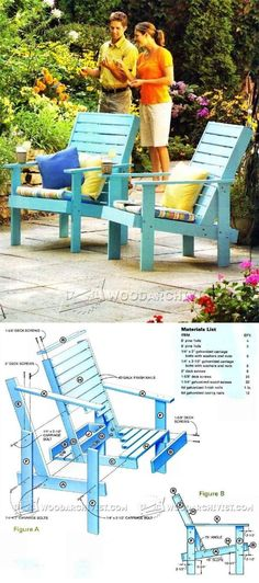Outdoor Lounge Chair Plans - Outdoor Furniture Plans and Projects | WoodArchivist.com