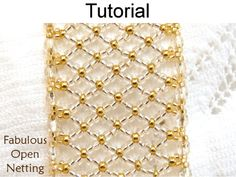 Fabulous Open Netting Stitch Beaded Bracelet PDF Beading Pattern | Simple Bead Patterns