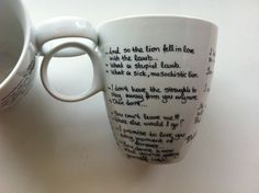 Items similar to Twilight Mug (Edward - Bella - Jacob quotes) and Gift Box on Etsy Edward Bella, Robert Pattinson, Twilight Saga, Mugs, Unique Jewelry, Tableware, Handmade Gifts, Quotes, Etsy
