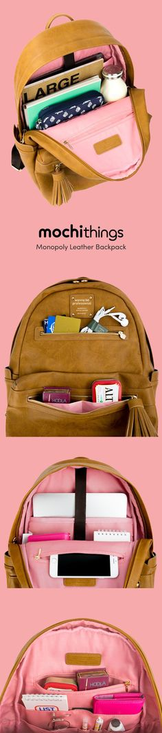 Wow! This backpack is just perfect for school! This backpack can store a 13in laptop in its padded laptop section. The main pocket can hold all kinds of items like books, notebooks, journals, schedulers and more! Within the main pocket also contains 5 divided pockets and 1 zipper pocket for loose items like your phone, pens, sticky notes, and other school supplies. Additional pockets are located on the outside for even more storage! Come check out more colors!