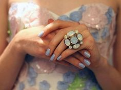 I love all parts of this! The nails, the ring, and the dress/ top!