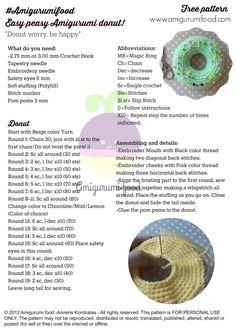 Mesmerizing Crochet an Amigurumi Rabbit Ideas. Lovely Crochet an Amigurumi Rabbit Ideas. Crochet Cake, Crochet Food, Crochet Gifts, Easy Crochet, Free Crochet, Crochet Amigurumi Free Patterns, Crochet Stitches, Tsumtsum, Single Crochet Stitch