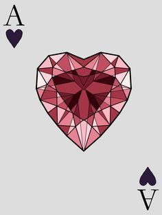 Ace of Hearts, Vanity 1/5 Poker Card Designs personal|tumblr|cargo|behance