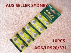 10pcs AG6/LR920/371 Button Cell Coin JAPAN STD Alkaline Battery 1.55V Watch Toys
