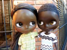 Friends #Blythe #brown #black #custom #blackblythe