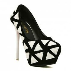 $15.93 Party Women's Sexy Heel Pumps With Geometric Design