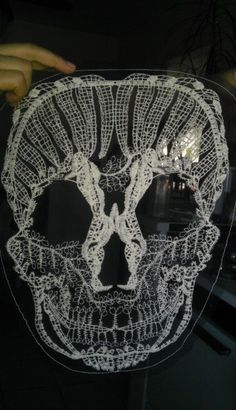 Skull Lace Appliques, Fancy Venice Lace, Cotton, For Gowns, Dresses, Fashion Projects, Altered Couture, Costume or Jewelry, Custom Orders by DinoCreator on Etsy https://www.etsy.com/listing/157111840/skull-lace-appliques-fancy-venice-lace