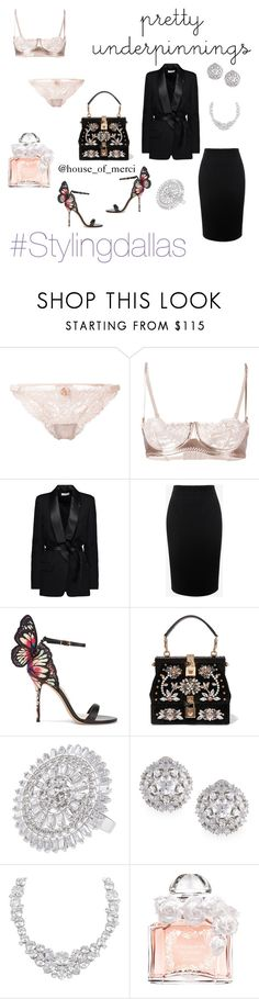 """""""under pinnings"""" by shauntae-benton ❤ liked on Polyvore featuring Loveday London, IRO, Alexander McQueen, Sophia Webster, Dolce&Gabbana, CZ by Kenneth Jay Lane, Fallon, Henri Bendel and Guerlain"""