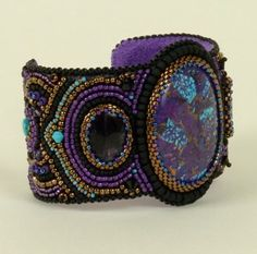 Spectacular Cuffs / beadwork by Nancy Dale. I wonder if she would come and teach a class here at Lake Atitlan for bead embroidery? CatherineTodd2 at gmail dot com, AtitlanArts dot com.