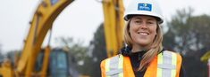 "We all learn differently — construction is a great option for people who like to move, who like to be physical and see the results of their work right away."" As a CEO, Anne-Marie knows the sky's the limit when it comes to a career in construction Growing Up, Physics, Marie, Things To Come, Construction, Sky, People, Building, Heaven"