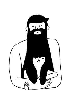 BLOB - couple beard + hair