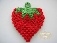 Entretelas -- Strawberry Pot Holder