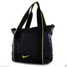 acce7fa155 NIKE LEGEND TRACK TOTE BLACK TRAVEL SHOPPING BAG PURSE GYM SPORTS DIAPER  BEACH  Nike  ToteBag