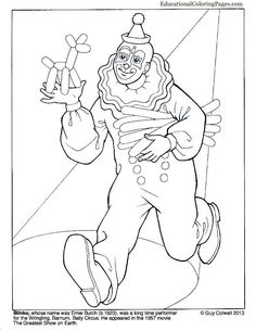 Clowns Coloring Books Two « Animal Coloring Pages for Kids