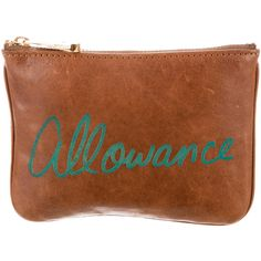 Pre-owned Rebecca Minkoff Allowance Coin Pouch ($95) ❤ liked on Polyvore featuring bags, wallets, zip wallet, zipper wallet, genuine leather wallet, brown leather wallet and coin pouch