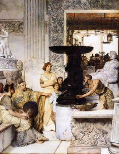 Lawrence Alma-Tadema (Dutch, 1836-1912)The Sculpture Gallery (1874).