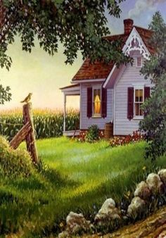 Pretty Old Farm House...Painting