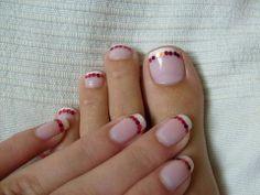 Matching Hand Nail And Feet Design.