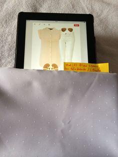 Mod 21: blusa crema con pliegues y cuello mao con tela blanca. 1.5 mts