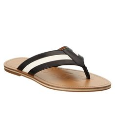 feb8cf8b2d07 BALLY AMILTON STRIPED LEATHER THONG SANDAL