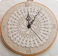 crochet a lacy clock