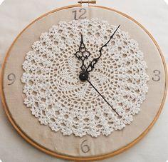 Crochet Clocks On Pinterest Clock Wall Clocks And