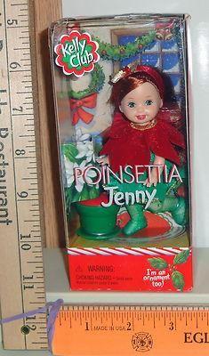 kelly dolls mattel | Barbie Mattel Kelly Club Poinsettia Jenny Doll & Ornament #55646 - 1