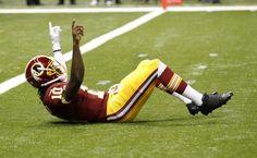 """Redskins quarterback """"Griffining"""" #NFL"""