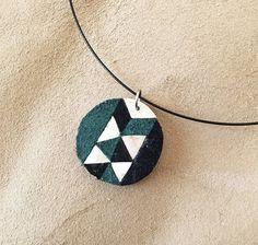 collier géométrie en cuir et argent pour femmes par YingziBruno