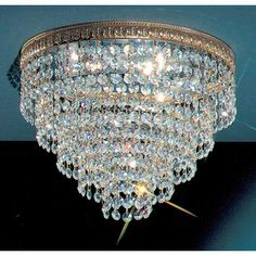Classic Lighting Crystal Baskets Light Semi-Flush Mount $158