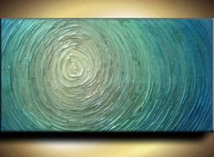 Abstract Painting 48 x 24 Custom Original Abstract by artoftexture