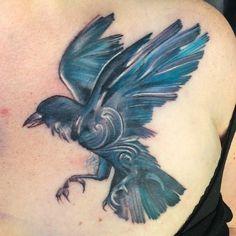 raven watercolor tattoo - Google Search