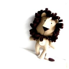 LION toy stuffed lion rag doll soft toy stuffed toy by ZazoMini, $72.00 love the 70's retro style of this plushie lion design must try one