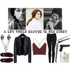A Lot Could Happen In One Night - Supernatural - Sam Winchester by aliiceroseee on Polyvore