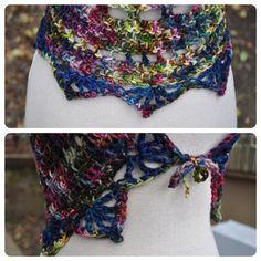 Chaleco Mandala arcoiris / / Crochet encaje encogiéndose por OfMars